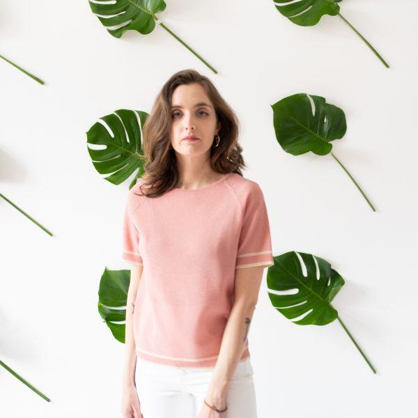 Maglietta in cotone riciclato