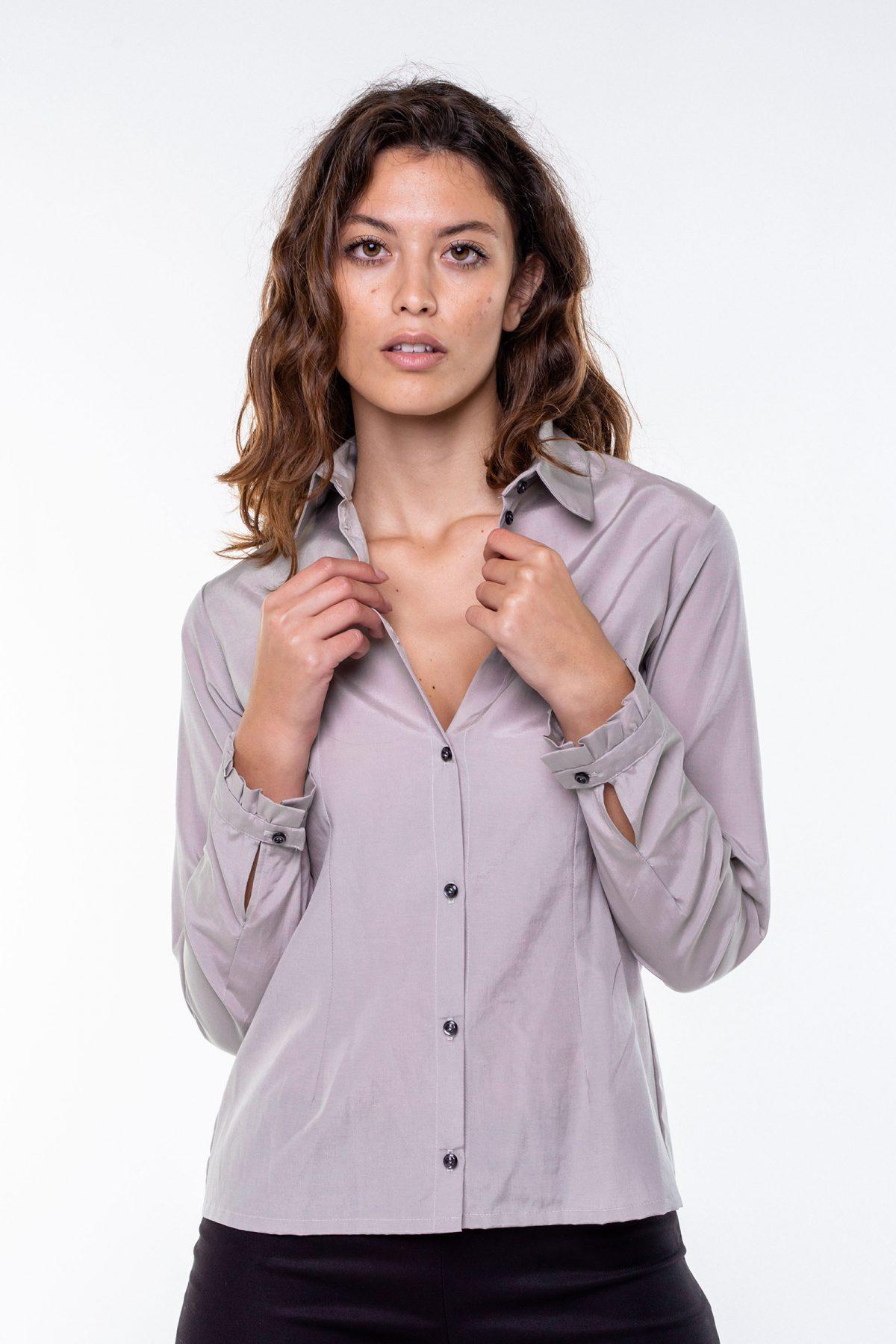 Camicia in fibra di cupro e cotone