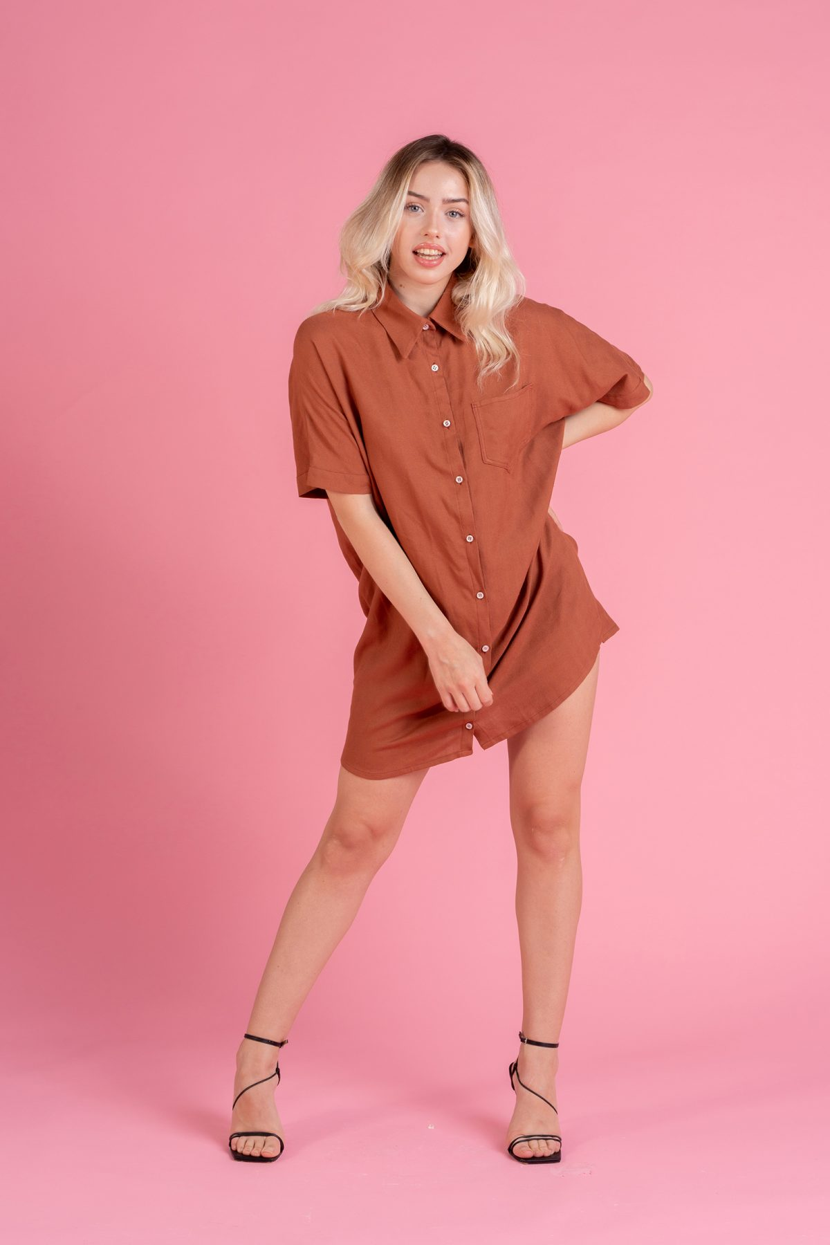 Camicia Oversize in fibra di Bambù